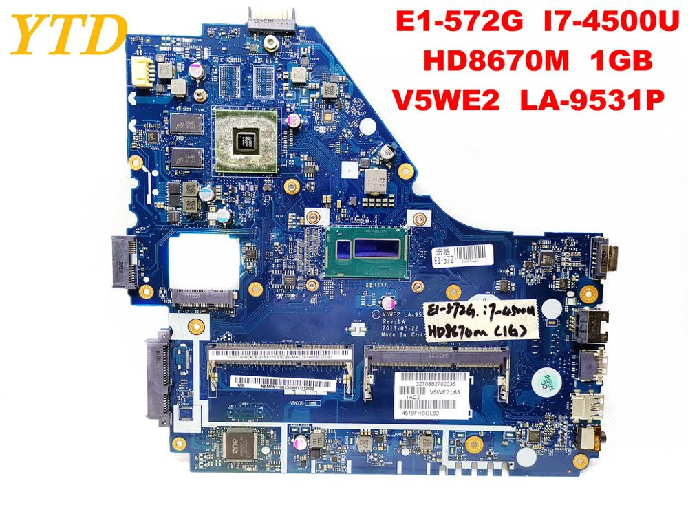 Original for font b ACER b font E1 572G laptop motherboard E1 572G I7 4500U HD8670M