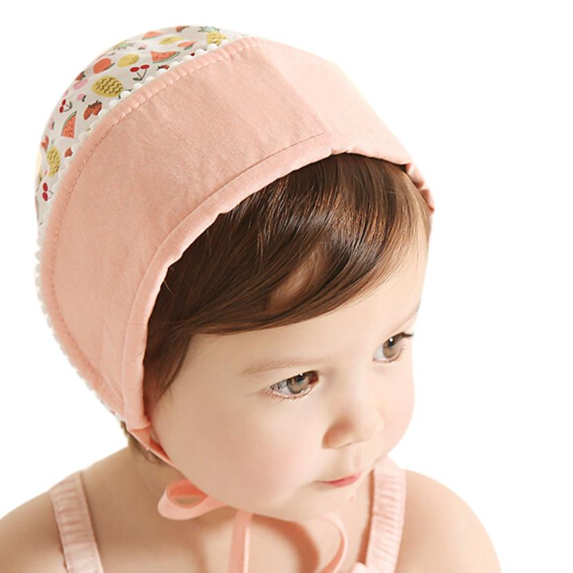 Aliexpress.com   Buy Flexible Kid Princess Girls Hat Beanie Convertible  Fruits Print Cap Flanging Sun Hat Suit to 1 2 Years Kids 15 from Reliable  Hats ... bfd4c65680c