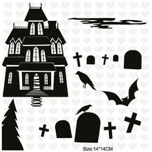 InLoveArts Halloween Pumpkin House Bat Transparent Silicone Stamps Scrapbook New Embossing DIY Clear Stencils Craft Card