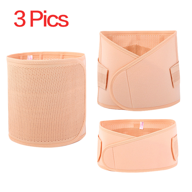3Pieces/Set Maternity Postnatal Belt After Pregnancy bandage Belly Band waist corset Pregnant Women Slimming Shapers underwear