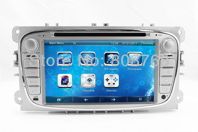 Head Unit Auto Radio Car DVD GPS Navigation for Ford Focus Mondeo S-Max with TV BT USB SD AUX Map 3G CAN Bus Audio Video Sat Nav