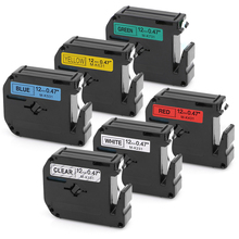 6PCS 12mm Compatible Brother M Tape M-K131 M-K231 M-K431 M-K531 M-K631 M-K731 for Brother P-touch PT65 PT70 PT80 PT85 12mm*8m цены