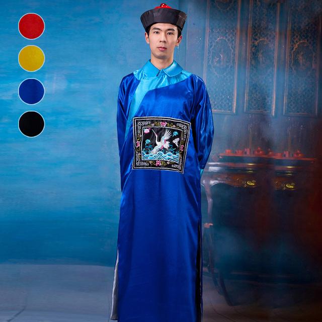 Eunuco de la Dinastía Qing Traje Ropa Zombies 4 Color Antiguo Traje Disfraces de Halloween