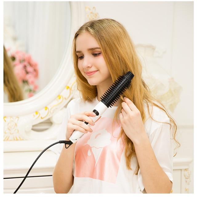 4 in 1 Ceramic Styler Hair Curler Brush Straightener  2
