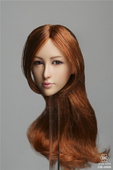 1/6 Asian beauty DR-008 Beauty Female Head Carving With Eyes Movable For seamless Body figure collector toy gift