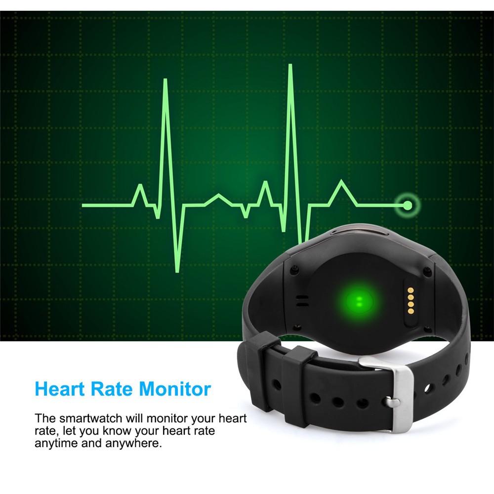 2016 New Product KW18 Smart Watch Android IOS Digital watch Bluetooth Reloj Inteligente SIM Round Heart Rate Monitor Watch Clock24