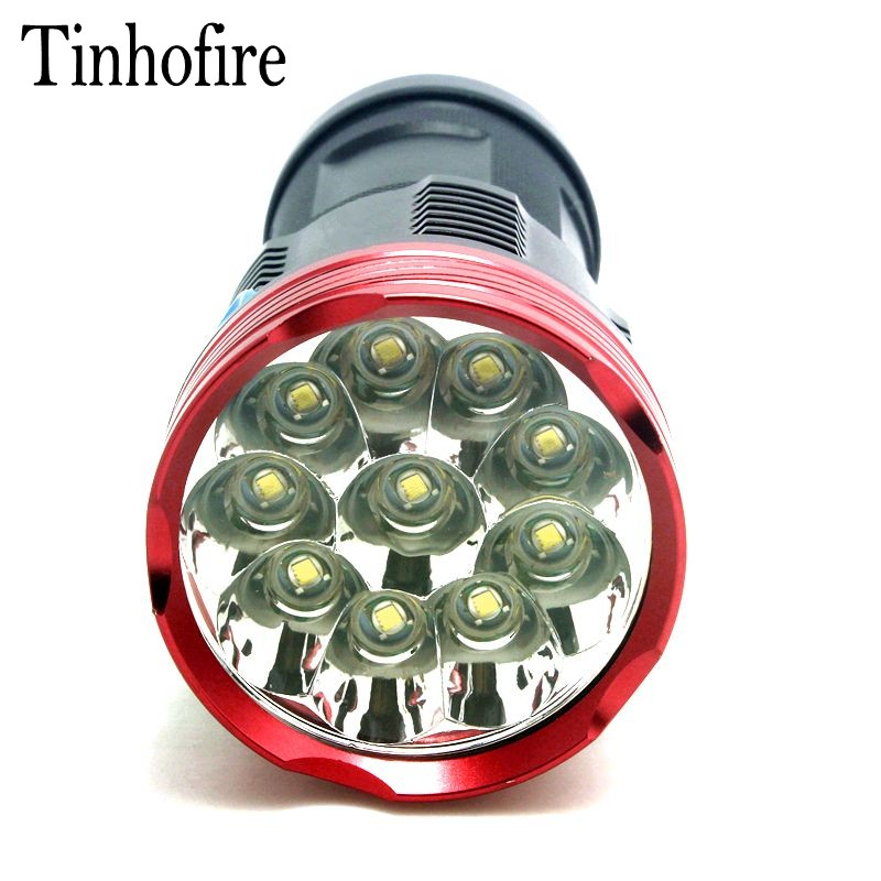 Tinhofire 10T6 20000 lumens SKYRAY King 10T6 LED flashlamp 10 x CREE XM-L T6 LED Flashlight Torch Lamp Light tinhofire t3 t4 t5 t6 t7 t8 t9 t10 t11 t12 cree t6 led 4000 20000 lm led torch camping flashlight lamp with battery and charger