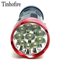 Tinhofire 10T6 20000 lumens SKYRAY King 10T6 LED flashlamp 10 x CREE XM-L T6 LED Flashlight Torch Lamp Light