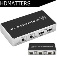 2 port USB 4K HDMI KVM Switcher Switch 2X1 with mouse&keyboard manual switch&hot key supported win7/8/win10/mac OS