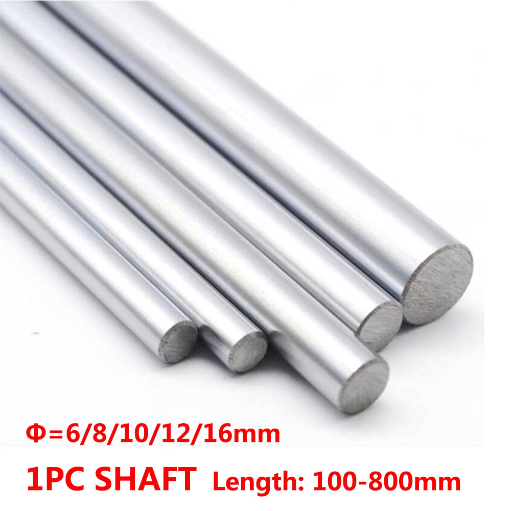 6mm 8mm 10mm 12mm CNC 3D Printer Axis Chromed Smooth Rod Steel Linear Rail Shaft