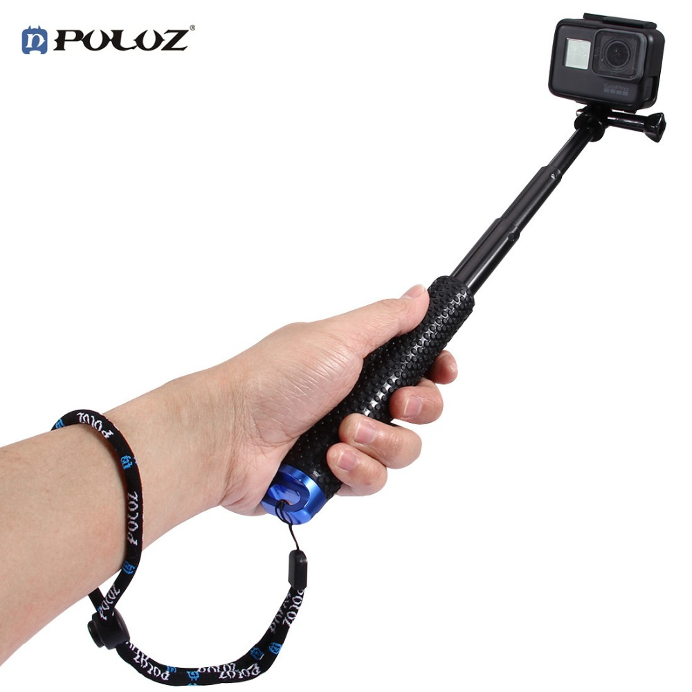 PULUZ Action Camera Accessories Camera Selfie Stick With Strap For GoPro/Sjcam/XIAOYI 19-49 cm (7.5 to 19.3 inch)