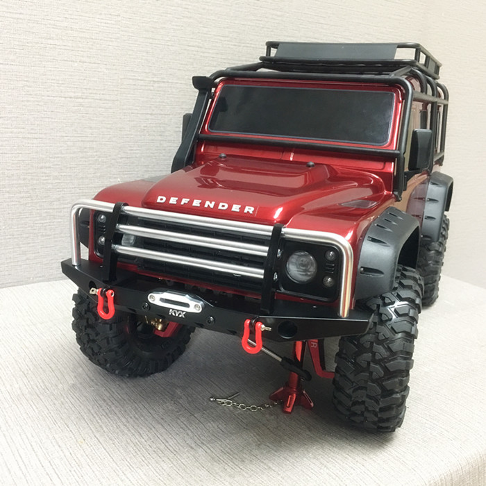 For TRAXXAS TRX4 parts/Alloy front Bumper set FOR TRAXXAS TRX-4 Axial 90046 Including Lights(kyx) free shipping traxxas trx 4 front bumper anti collision metal upgrade accessories front bumper suit trx 0008 6061 aluminum alloy