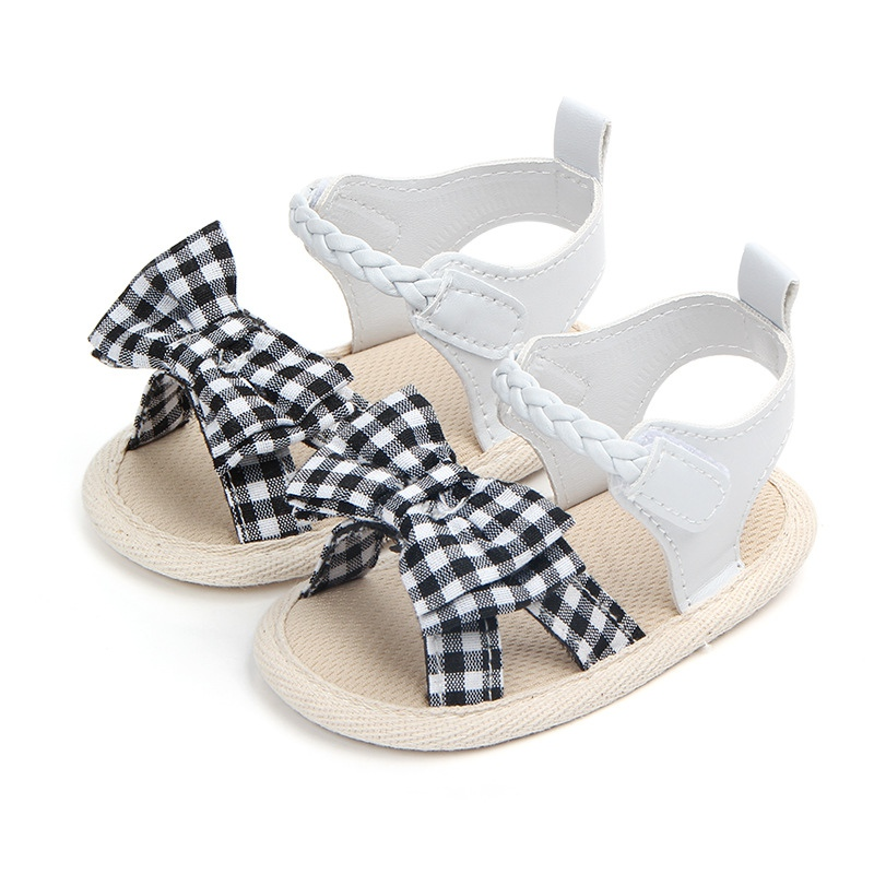 Todler Shoes Soft Soled Princess Shoes For Girls Cute Bow Tie Baby Girls Shoes Summer Cotton Newborn Girl First Walkers