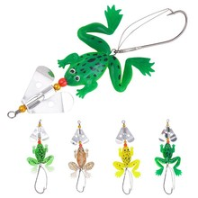4pcs/lot 75mm/6g Pesca Fishing Lure Artificial Fishing Silicone Bait Frog Lure with Hook Soft Fishing Frog Lures Fishing tackle 1pcs soft rubber frog fishing lure bass crankbait 3d eye simulation frog spinner spoon bait 8cm 6g fishing tackle accessories