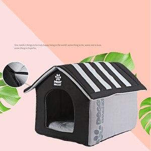 Image 3 - Mode Abnehmbare Abdeckung Matte Faltbare Hund Haus Zwinger Hund Betten Für Kleine Medium Große Hunde Haustier Produkte Haus Pet Betten für Katze