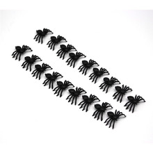 Plastic Black Spider Trick Toy Halloween Haunted House Decorations