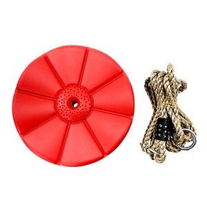 Image 3 - Wiszące krzesło huśtawka dzieci Slackers huśtawka świecące noc Riderz Led Disc latający spodek huśtawka zestaw z Zipline zabawki na zewnątrz Fly