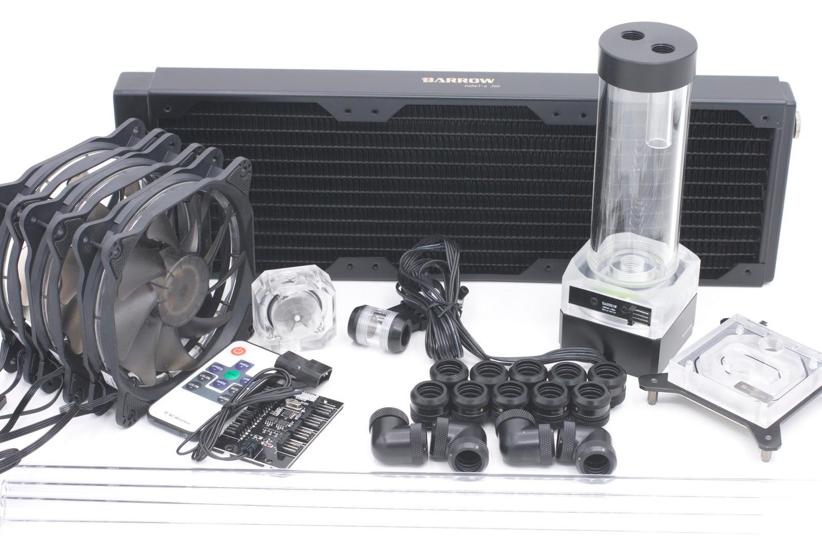 Brouette Kit De Refroidissement à Eau pour CPU Rigide Tube Intel AMD 360mm Cuivre Radiateur