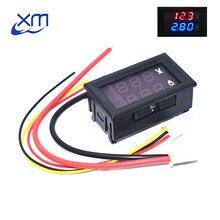 DC 0-100V 10A Digital Voltmeter Ammeter Dual Display Voltage Detector Current Meter Panel Amp Volt Gauge 0.28″ Red Blue LED