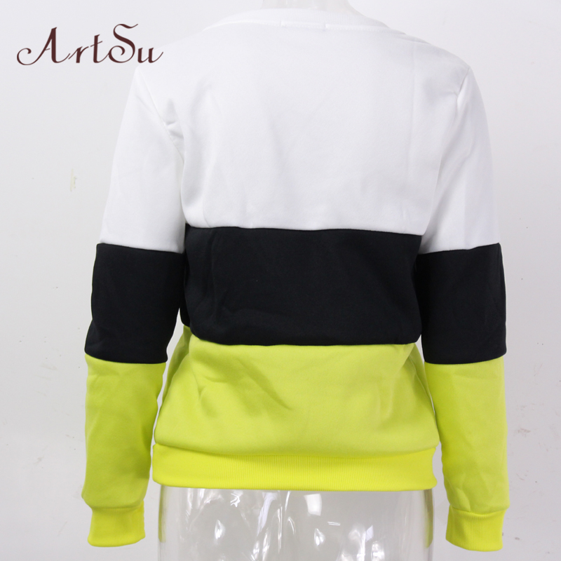 ArtSu 2017 Autumn and winter women fleeve hoodies printed letters tracksuit women's casual sweatshirt hoody sudaderas EPHO80027 23