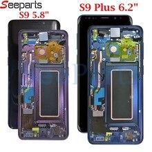 """5.8 """"لسامسونج غالاكسي S9 Lcd S9 plus عرض مجموعة المحولات الرقمية لشاشة تعمل بلمس 6.2"""" لسامسونج غالاكسي S9 G9600 S9 plus G9650 lcd"""