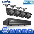 SANNCE HD 8CH CCTV System 960H HDMI DVR Kit 800TVL IR Outdoor Security Waterproof Cameras Surveillance Kits Night Vision