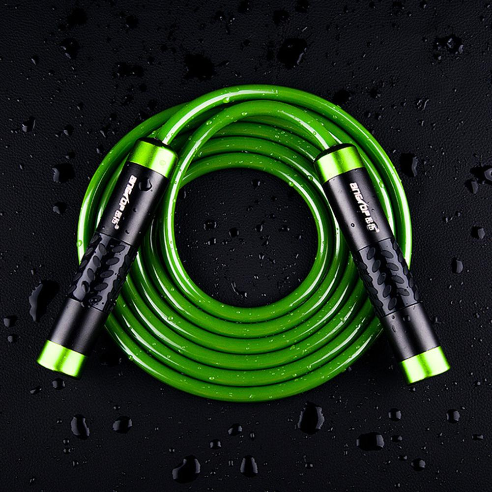 Speed Jump <font><b>Rope</b></font> Ball Bearing Aluminum-bearing <font><b>Handle</b></font> Sport <font><b>Skipping</b></font> Solid PVC Cable Crossfit Fitness Equipment image