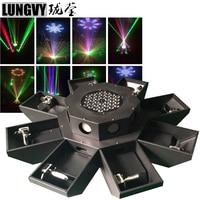 Free Shipping 8 Eyes RGB UFO Wide Beam DJ Disco Led Bar 8 Eyes 8 Head Laser Show DMX Moving Head Light