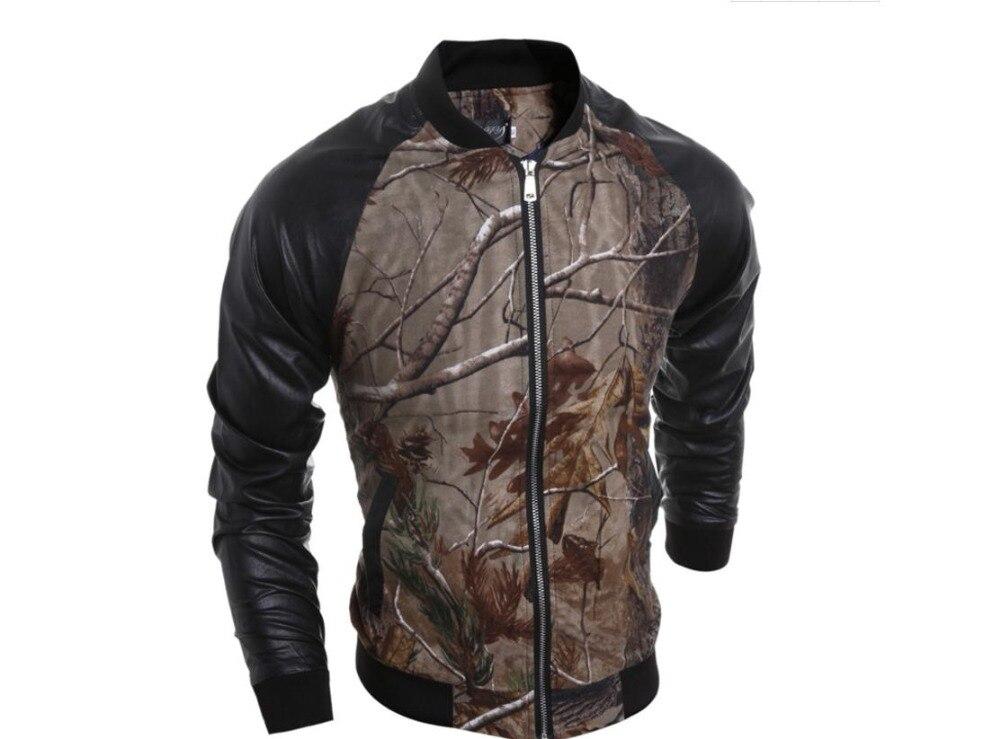 Marques homme décontracté hip hop mode punk moto veste Européenne Américaine coton jungle 3D impression col veste
