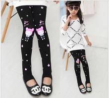 Girls' Leggings Cartoon Print 2017 Autumn Children's Wear Full Length Girls Skinny Leggings Winter Wear Warm For Children EX97
