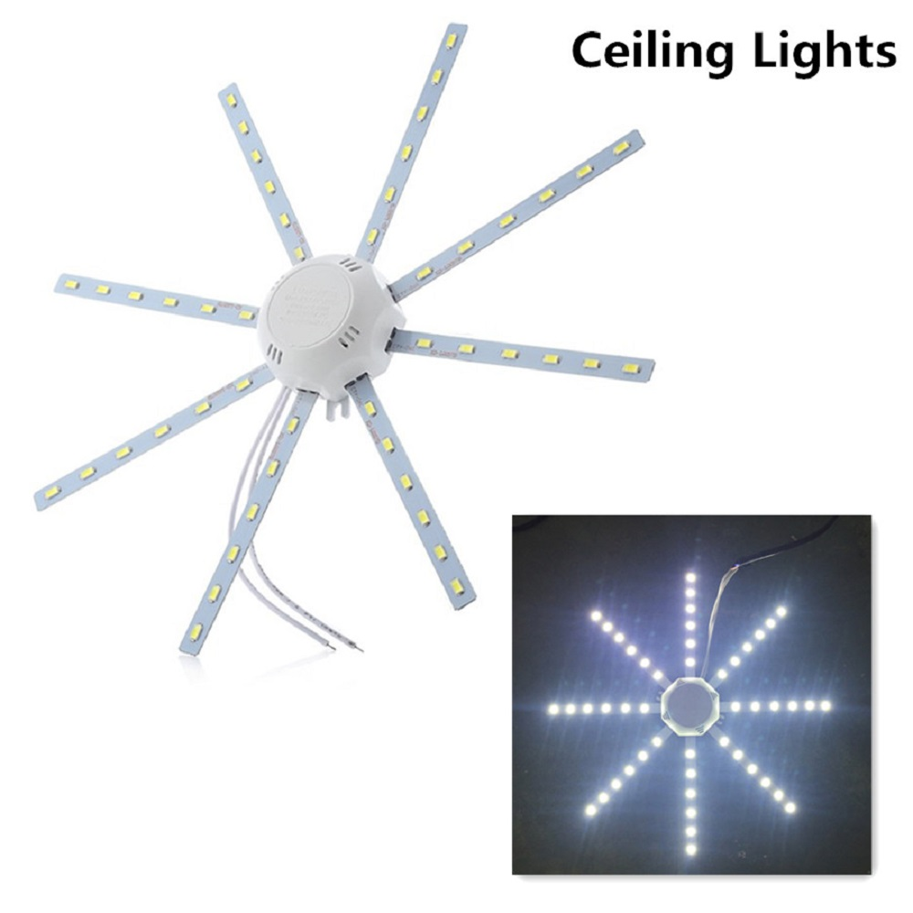 <font><b>24W</b></font> <font><b>LED</b></font> Ceiling Light 1800LM 48 <font><b>LED</b></font> lamp Octopus Round Light flat <font><b>led</b></font> panel AC 220V Interior Lighting <font><b>Module</b></font> light ceiling lamp image