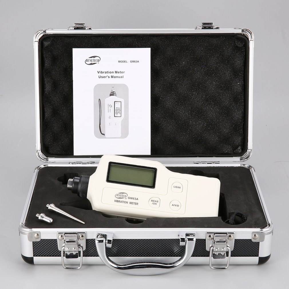 New GM63A Digital Vibration Meters Vibrometer Meter Device Measures Handheld Analyzer Tester Analyzer Gauge High Precision цена
