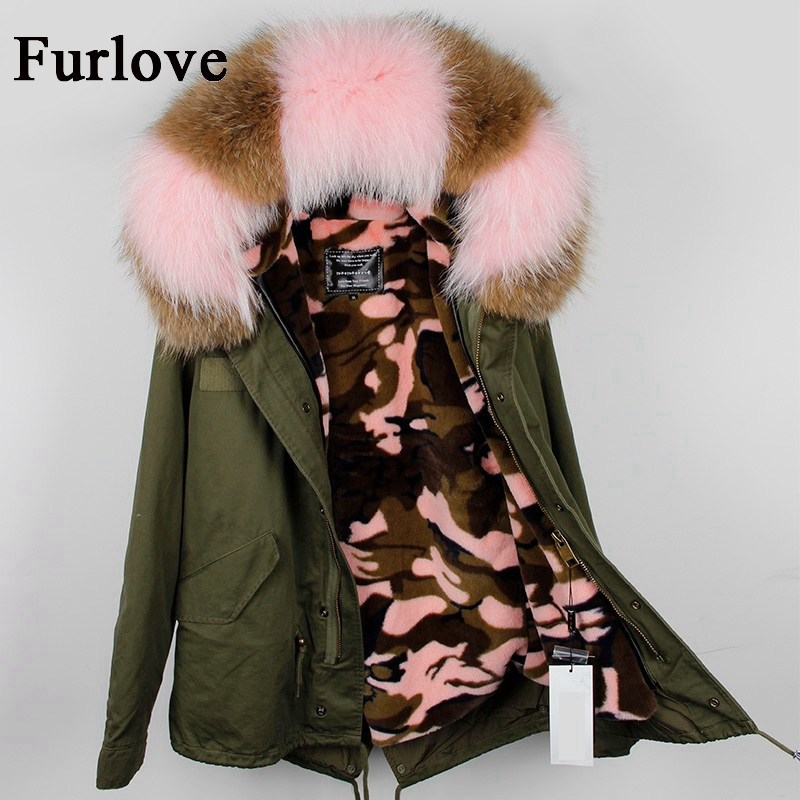 Natural large raccoon fur collar hooded winter jacket women parka fur coat customizable fashion thick parkas casual warm jackets new fashion winter jacket women fur collar hooded jacket warm thick coat large size slim for women outwear parka women g2786