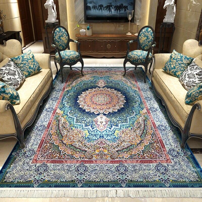 Iran Imported Persian Carpet Livingroom Home Carpet Bedroom Sofa Coffee Table Rug Luxury European Floor Mat Study Room Floor Rug