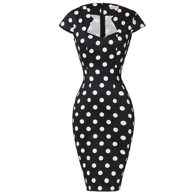 ed6053f517471 Women Plus Size Pencil Dresses Rockabilly Clothing 2018 Floral Summer  Casual Party Office Dress Sexy 50s Vintage Bodycon Dress