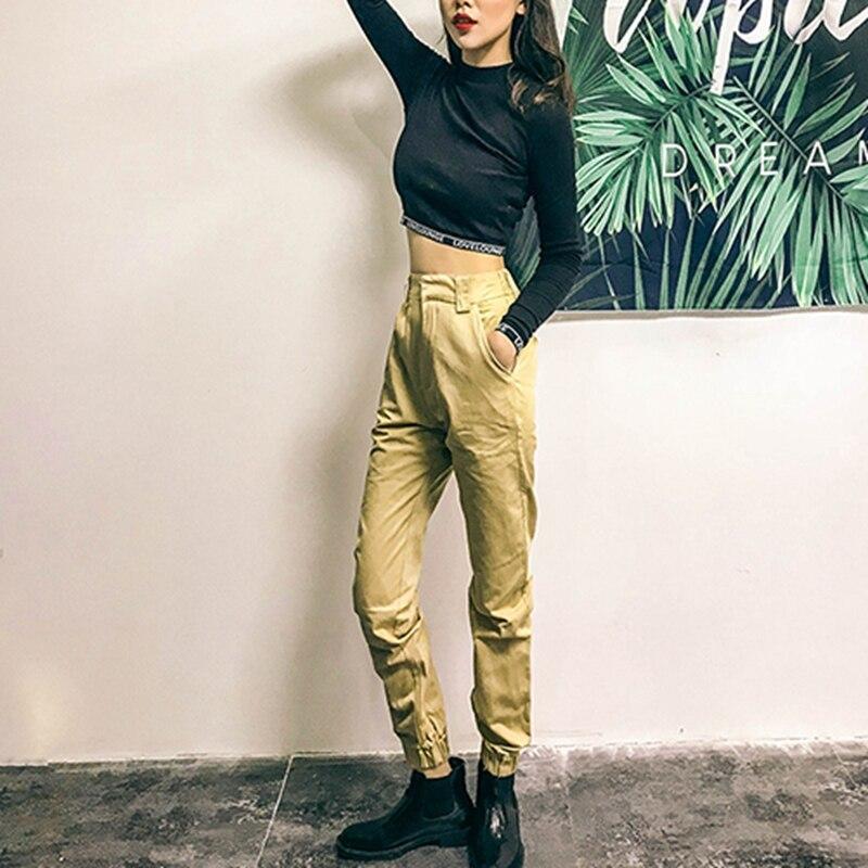 Frauen Kleidung & Zubehör Hosen Frauen Streetwear Hosen Cargo Hosen Casual Jogger Schwarz Hohe Taille Lose Weibliche Hose Harajuku Parodie Damen Hosen Capri