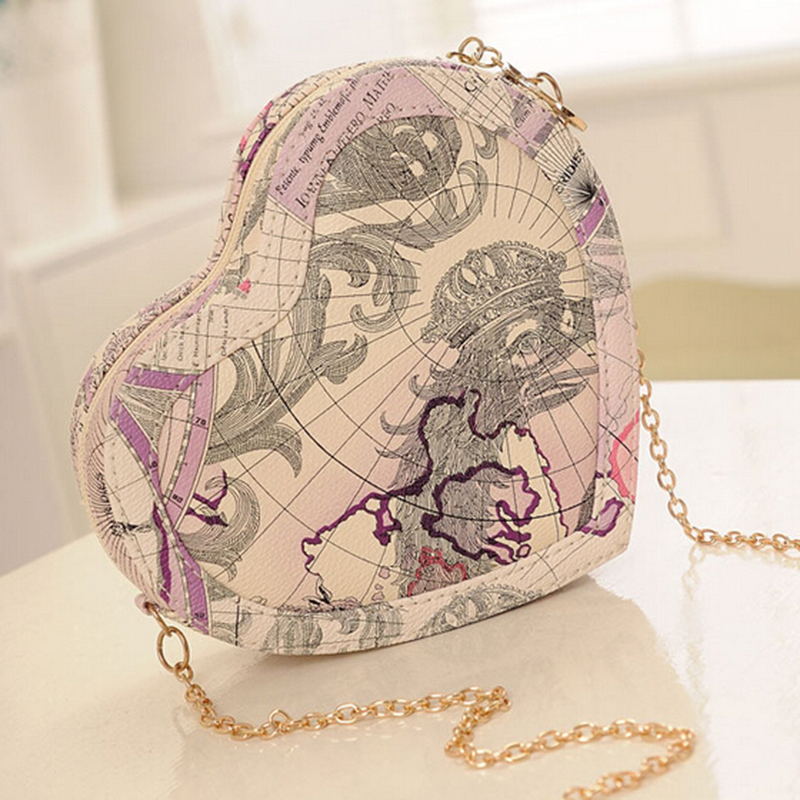 Bh490 new fashion brand design women brand design messenger bags bh490 new fashion brand design women brand design messenger bags heart shape lovely world map printed ladies handbag mini bags in top handle bags from gumiabroncs Choice Image