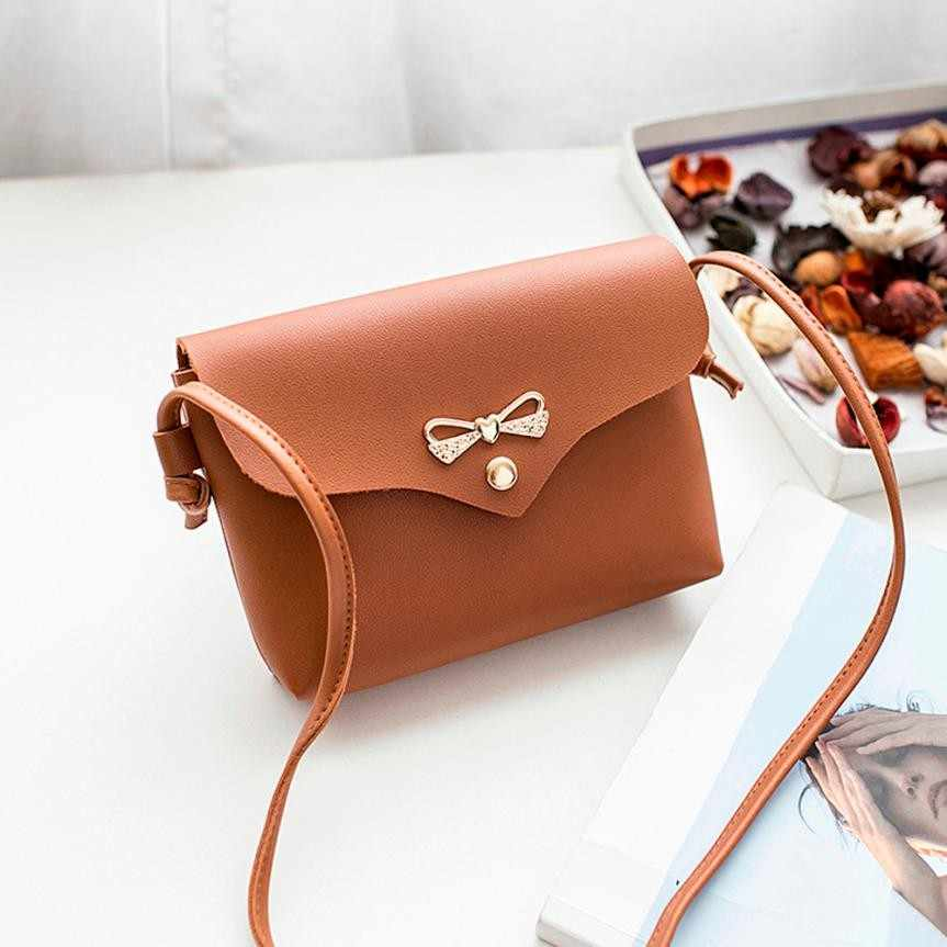 ... Mini Bow PU Leather Chain Bag Women Handbags Women crossbody bags  Ladies Pretty Crossbody Shoulder Bag ... c140df0e9eaf9