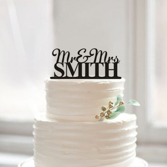 Personalized Acrylic Wedding Cake Toppers Mr Mrs Topper With Last Name Customized Decoration For Lover In Decorating Supplies
