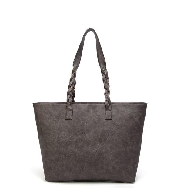 Tinkin  Vintage PU Tassel Women Shoulder Bag Female Retro Daily Causal Totes Lady Elegant Shopping Handbag 1