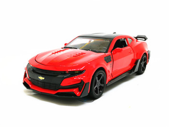 1:32 Camaro Sports Car Alloy Diecast Model Car Toy 5 Color Pull Back Flashing For Kids Birthday Christmas Gifts Toys