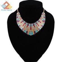 Maxi Necklace Collares 2017 Vintage Statement Necklaces & Pendants for Women Bijoux Fashion Enamel Choker Collier Kolye Jewelry