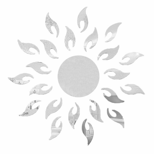 unidades cm en forma de sol espejos pegatinas de pared d etiqueta