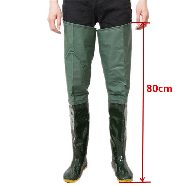 High-Jump Unisex 80cm Height Fishing Waders Boot PVC Material Soft Sole End Fishing Wader Multi-purpose Oxota Fishing Wader Boot