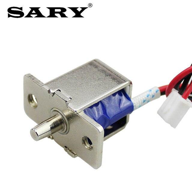 قفل كهربائي صغير DC12V0.5A مسمار كهربائي قفل أخفى قفل الباب الالكتروني التحكم في الوصول قفل كهربائي صغير