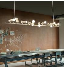 BOKT Morden Lighting Multi Kitchen Island Chandelier Lighting American Industrial LOFT Bar Cafe bird Decor Hanging Lamp 110-250V