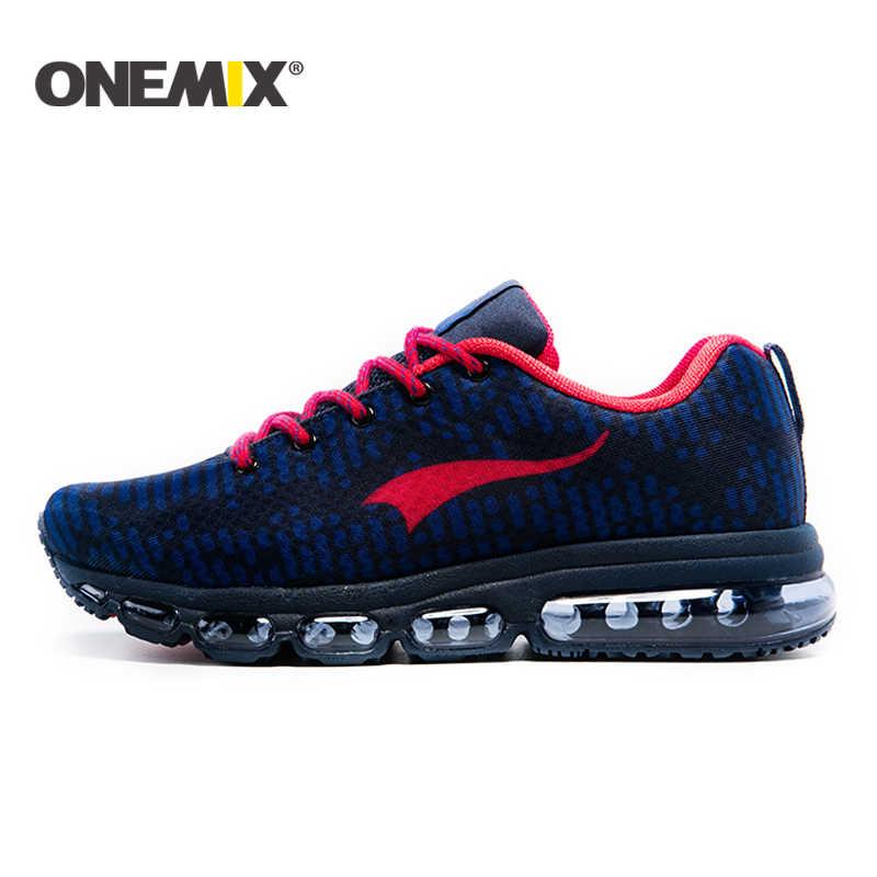Onemix yeni koşu ayakkabıları erkekler veya kadınlar açık spor ayakkabılar hava yastığı spor ayakkabı zapatos hombre trekking ayakkabıları ücretsiz kargo