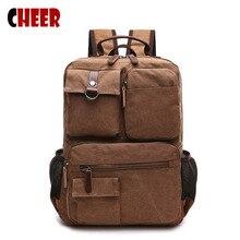 Men's backpacks for school teenagers Retro laptop bag 17 inch notebook backpack  Handy men school bag famous brands designer