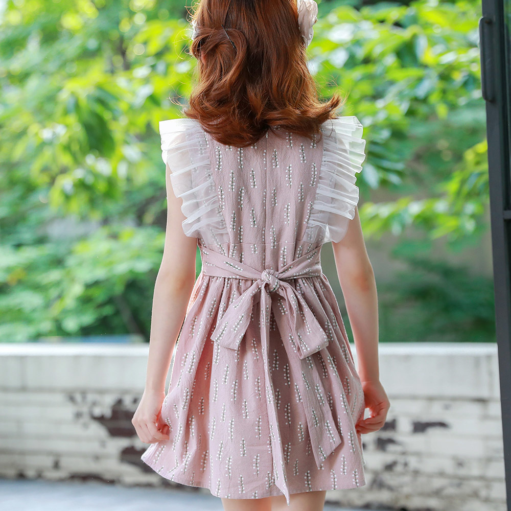 Summer Girl Dress Aonuosi Nowy produkt 2018 pink Party bowknot - Ubrania dziecięce - Zdjęcie 2