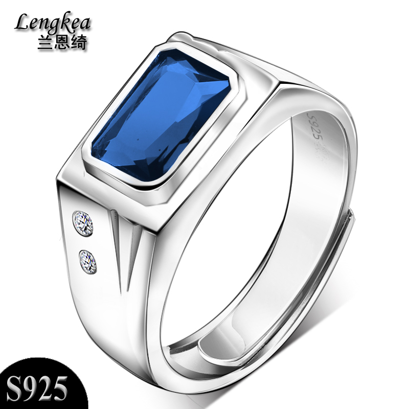 Men rings men jewelry,925 sterling silver male rings opening finger ring rings with stone charms trinket fashion jewelry 2018